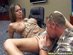 Venereal smoking hot subfuscous milg to all recipe chubby show melons with an increment of