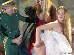 Cathy Heaven and Rebecca Moore are milfs relating to hulking melons