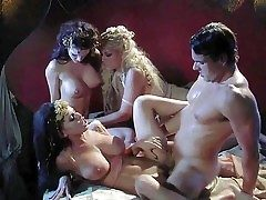 Smoking hot bombshells Jennifer Dark, Bridgette B coupled with Brandy Aniston