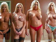 Blondes Courtney Taylor, Nikki Benz, Summer Brielle, and Nina Elle  - Pornsharing.com fucky-fucky videoclip