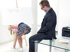 Her baps alone were enough to make Veronika's tricky old teacher want to pound her brains out